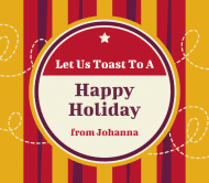 Holiday Beer Label - Holiday Toast