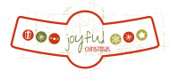 Holiday Bottle Neck Label - Joyful Christmas