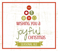 Holiday Beer Label - Joyful Christmas