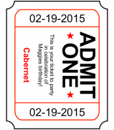 Birthday Wine Label - Admit One
