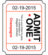 Birthday Champagne Label - Admit One