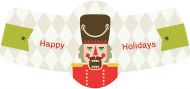 Holiday Bottle Neck Label - Nutcracker