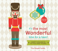Holiday Beer Label - Nutcracker