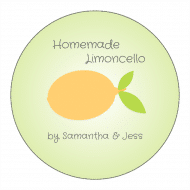 Canning Label - Homemade Limoncello