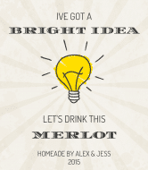 Expressions Wine Label - Bright Idea