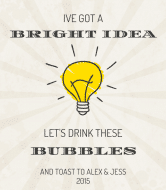 Expressions Champagne Label - Bright Idea