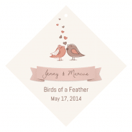 Celebration Wine Hang Tag - Birds of a Feather