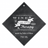 Celebration Wine Hang Tag - Chalkboard