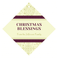 Holiday Wine Hang Tag - Christmas Blessings