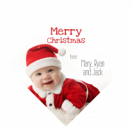Holiday Wine Hang Tag - Christmas Baby