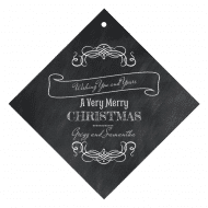 Holiday Wine Hang Tag - Chalkboard Christmas