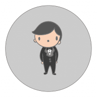 Wedding Sticker - Man