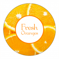 Canning Label - Oranges