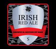 Holiday Beer Label - Irish Red
