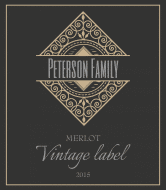 Expressions Wine Label - Vintage