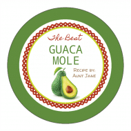 Canning Label - Guacamole