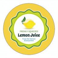Canning Label - Lemon Juice