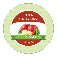 Canning Label - Apple Sauce