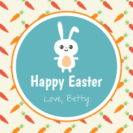 Holiday Sticker - Easter Bunny