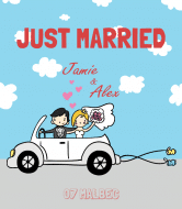 Wedding Wine Label - Just Married