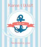 Wedding Wine Label - Nautical Wedding