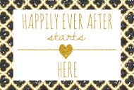Wedding Mini Wine Label - Happy Forever