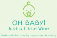 Baby Mini Wine Label - Oh Baby