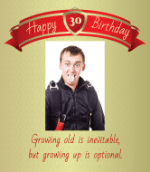 Birthday Wine Label - Growing Up
