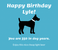 Expressions Beer Label - Dog Years