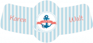 Wedding Bottle Neck Label - Nautical Wedding