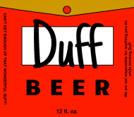 Expressions Beer Label - Duff