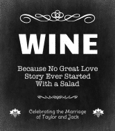 Wedding Wine Label - Wine Love Story