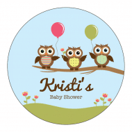 Baby Sticker - Owls