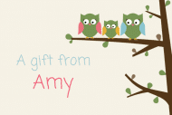 Expressions Gift Tag - Owls
