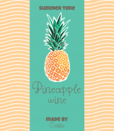 Celebration Wine Label - Pineapple