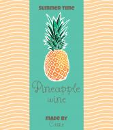 Celebration Wine Label - Pineapple