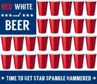 Holiday Beer Label - Red White and Beer