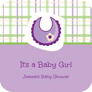 Baby Drink Coaster - Baby Bib