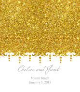 Celebration Wine Label - Gold Glitter