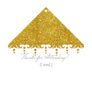 Celebration Wine Hang Tag - Gold Glitter