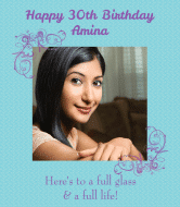 Birthday Wine Label - Cameo