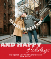 Holiday Wine Label - Christmas Card
