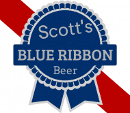 Birthday Beer Label - Blue Ribbon