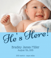 Baby Wine Label - Birth Announcement Boy