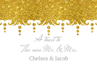 Celebration Mini Wine Label - Gold Glitter