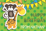 Birthday Gift Tag - Monkey Around