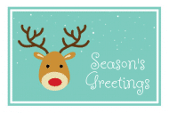 Holiday Gift Tag - Antlers
