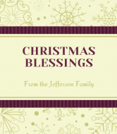 Holiday Champagne Label - Christmas Blessings