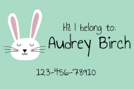 Name Label - Bunny
