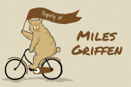 Name Label - Biking Bear